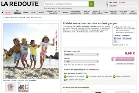T-shirt-La-Redoute-photo-nue